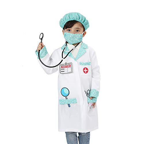 Wizland Child Role Play Costumes,Doctor,Chef Dress Up Playset Kits for Kids 3-5,5-7,7-9