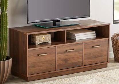 Amazon Com Tv Stand For 50 Inch Tv Canyon Walnut Wood With 3