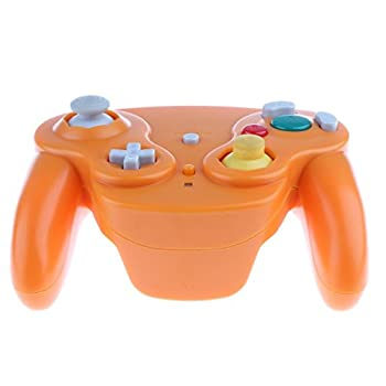 Wireless 2.4ghz Controller Gamepad For Nintendo Gamecube & Nintendo Wii (Spice Orange) 4