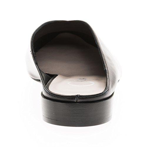 Donna Carolina 37.300.034-002 Nero Grande Nuovo Sabot / Zoccolo Con Una Comoda Altezza Del Tacco