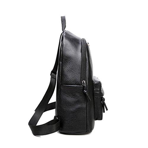 Clode® Mochila unisex Panda impresión mochilas impermeabilizan bolsas de hombro (Negro)