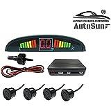 AutoSun® Reverse Car Parking Sensor LED Display Black