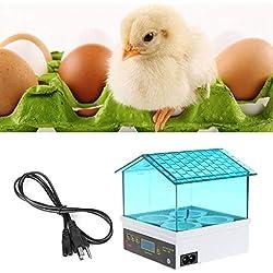 TOOGOO Digital Temperature Small Brooder 4 Mini Hatchery Egg Incubator Hatcher for Chicken Duck Bird Pigeon Quail US Plug