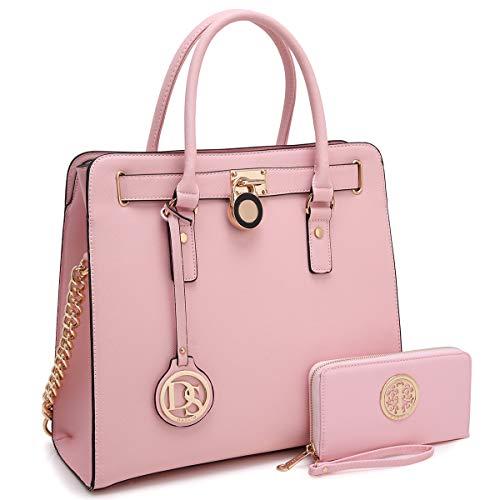 Pink Satchel Handbags - 9