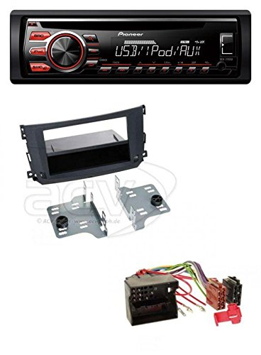 Pioneer deh-2700ui CD MP3 USB AUX Radio de coche para Smart Fortwo (451