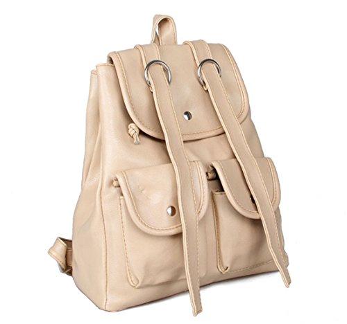QPALZM Mode Klassik Hochschule Wind Niedlich Doppeltasche Rucksack Multifunktions Ms. Koreanisch Schultern Rucksack,White