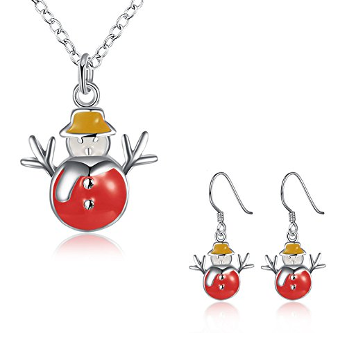 iWenSheng Pendant Necklace Earrings Christmas