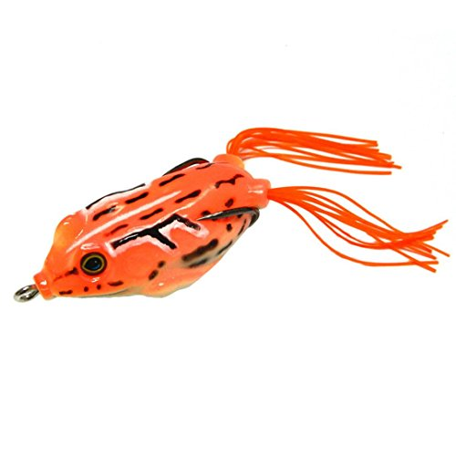 Price comparison product image Boofab Fishing Lures Topwater Floating Weedless Lure Frog Baits with Double Sharp Hooks Soft Bait for Bass Snakehead Salmon Freshwater Saltwater Fishing