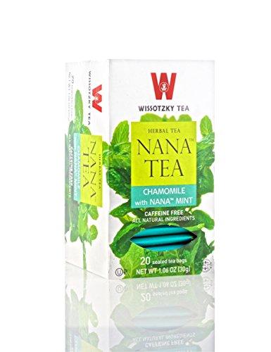 (WISSOTZKY TEA Nana Mint Chamomile Tea, 20 CT)