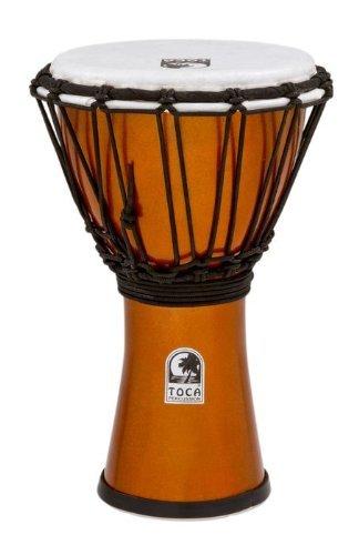 Toca TFCDJ-7MO Freestyle Colorsound 7-Inch Djembe - Metallic Orange by Toca