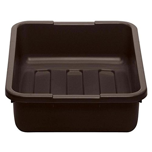 Cambro 21155CBP131 Cambox 21'' x 15'' x 5'' Dark Brown Polyethylene Plastic Bus Box with Ribbed Bottom