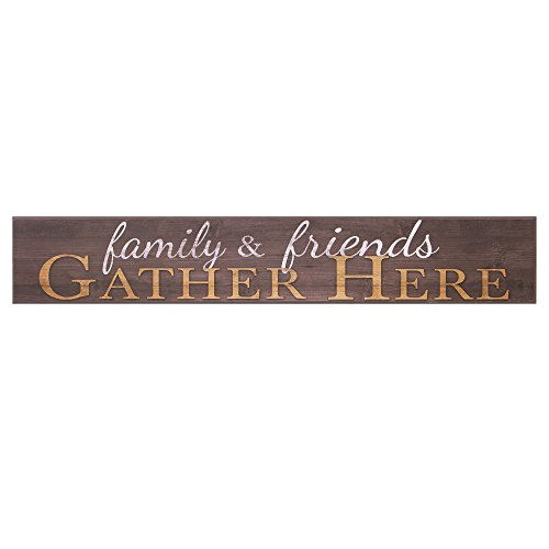 Patton Wall Decor Family and Friends Gather Here Wood Wall Art, 6