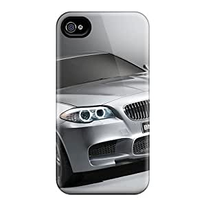 Iphone 4/4s Case Cover - Slim Fit Tpu Protector Shock Absorbent Case (bmw 5)