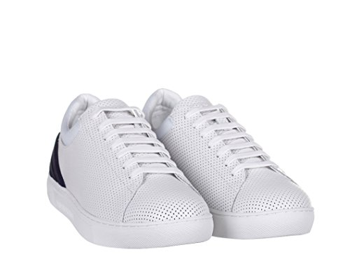 Emporio Armani Sneaker Uomo Bianco White, Bianco (White Navy), US 10