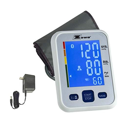 Cuff Adaptor Universal - Zewa Upper Arm Blood Pressure Monitor with Two User Mode (120 Reading Memory), Two Cuff (MED/LRG 9