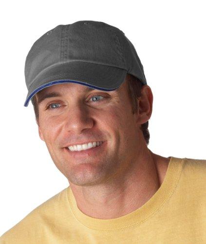 (Anvil Men's Low Profile Sandwich Trim Twill Cap, Coal, One Size)