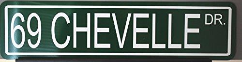 Motown Automotive Design Metal Street Sign 1969 69 Chevelle Drive 6 x 24 ()