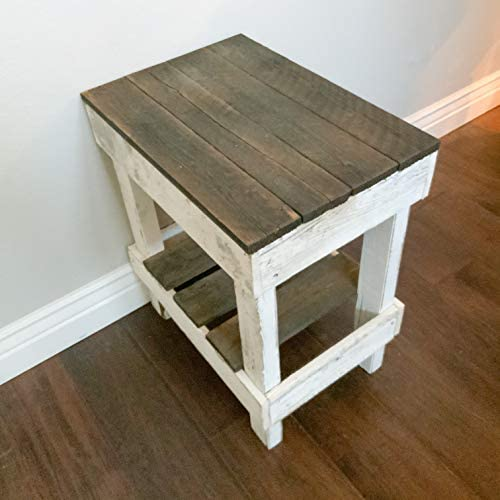 Del Hutson Designs Reclaimed Wood Slim End Table