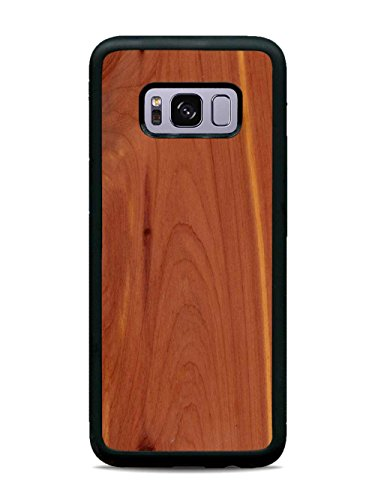 Galaxy S8 Cedar Wood Traveler Case by Carved, Unique Real Wooden Phone Cover (Rubber Bumper, Fits Samsung Galaxy S8)