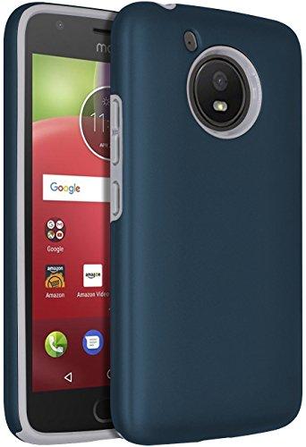 Moto E4 Case,SENON Slim-fit Shockproof Anti-Scratch Anti-Fingerprint Protective Case Cover For Motorola Moto E4/Moto E 4th Generation,Blue
