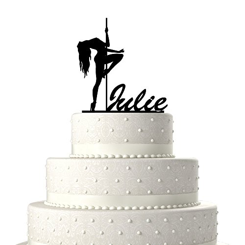 KISKISTONITE Brand Cake Toppers Stripper with Pole Birthday Cake Toppers Birthday Decoration Acrylic Cake Topper for Special Events