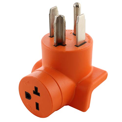 AC WORKS 30 Amp 4-Prong Dryer Wall Outlet Adapter (To 6-20 20A 250V HVAC)