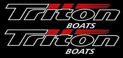 Amazon com: Triton Boats Watercraft Pair of Decal Stickers 3