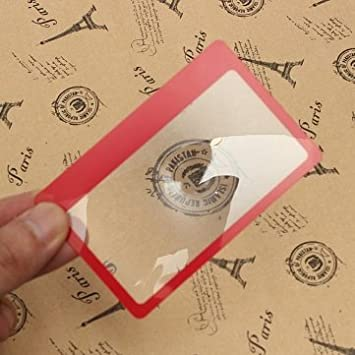 3X lente lupa de aumento de tamaño mini tarjeta de crédito ...