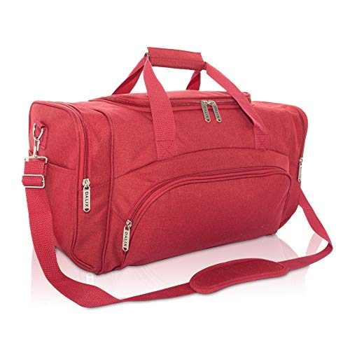 DALIX Signature Travel or Gym Duffle Bag in Maroon ()