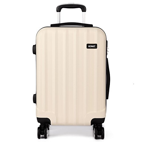"Kono Lightweight 4 Wheel Spinner ABS Hard Shell Suitcase 20"" 24"" 28"" Travel Case 3 Piece Luggage Set Cabin Medium Large"