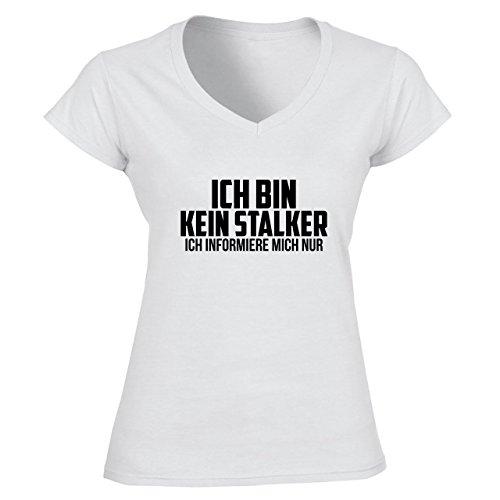 Ich Bin Kein Stalker Ich Informiere Mich Nur Damen V-neck T-shirt