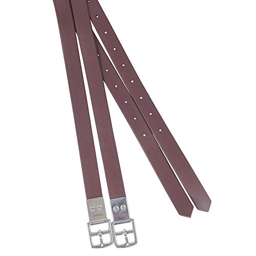 (Collegiate Synthetic Strap Stirrup Leathers 54 inch)