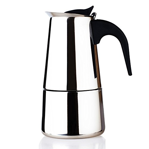 Kettle Style Coffee Maker : YOULANDA Stainless Steel Coffee Pot Kettle Stove Top Espresso Maker Silver Tone 9 Cup 11street ...