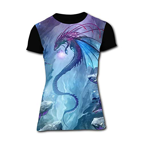 Women's T-Shirt Fly Dragon Graphic 3D Printed Short Sleeve T Shirt Tops Fashion Tees