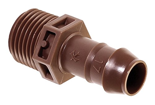Rain Bird BA-050MPS Drip Irrigation PVC Adapter, Universal for 5/8