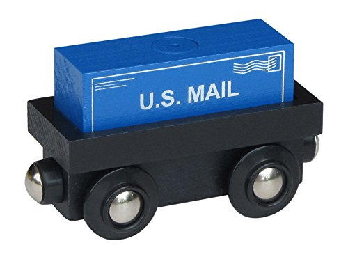 Choo Choo Track & Toy Co. Cargo Car with removable U.S. Mail magnetic cargo wooden train