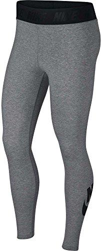 Nike Womens International AOP Legging Carbon Heather/Black 933346-091 Size Medium