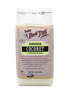 Bob's Red Mill Unsweetened Shredded Coconut, 12 oz