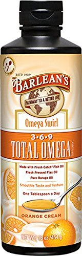 Barlean's Orange Cream Total Omega Swirl, 16-Ounce (3 Omega Total)