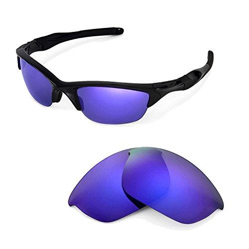 Walleva Replacement Lenses for Oakley Half Jacket 2.0 Sunglasses -Multiple Options Available (Purple Coated - - 2.0 Jacket Half Lenses