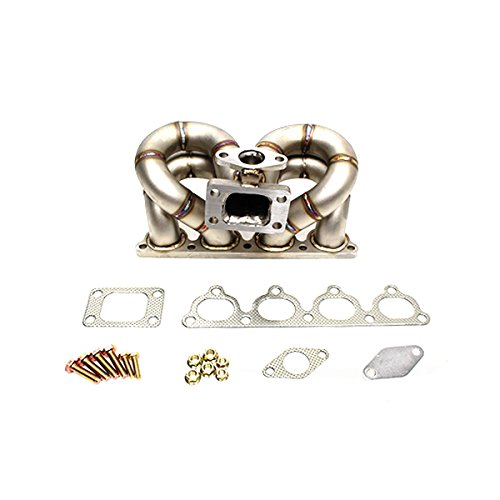 Rev9Power Rev9_HP-MF-D15-T3-11G; HP-Series Civic D15 D16 Ram Horn Equal Length T3 Turbo Manifold