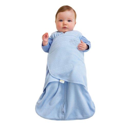 HALO SleepSack Micro-Fleece Swaddle, Baby Blue, Newborn