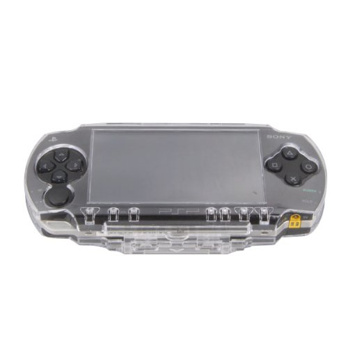 OSTENT Protector Clear Crystal Travel Carry Hard Cover Case Shell Compatible for Sony PSP 1000 Game Console