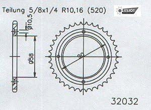 Sifam Kit cha/îne Honda Xl 125 Varadero Hyper Renforcee An 00 04 Kit 14 44