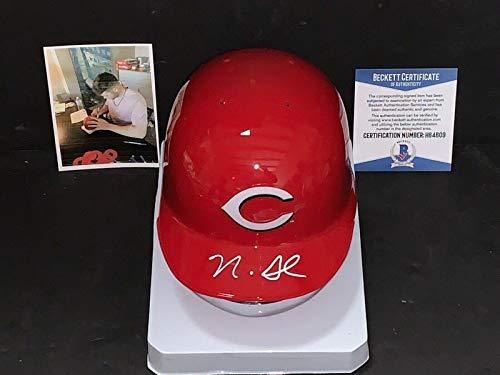 Nick Senzel Cincinnati Reds Autographed Signed Mini Helmet Beckett COA 1 - Beckett Authentication - Autographed MLB Mini Helmets Cincinnati Reds Autographed Mini Helmet