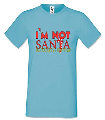Blanco No Algod Santa 4sold Gris Camiseta Azul soy para hombre Negro wOnHxqZ4
