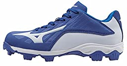 Mizuno 9 Spike ADV YTH FRHSE 8 RY-WH Youth Molded Cleat (Little Kid/Big Kid), Royal-White, 1.5 M US Little Kid