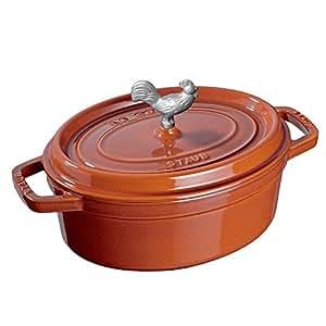 Staub Cast Iron 5.75-qt Coq au Vin Cocotte - Burnt Orange