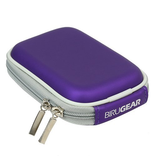 BIRUGEAR Hard Shell Eva Pouch Case - Purple for Samsung T3 / T1 Portable SSD USB 3.1/3.0 External