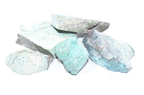 Chrysocolla 100 Gms Raw,+ free clear quartz raw Metaphysical Healing, Chakra Balance,Reiki (Deep Blue Turquoise Pendant)